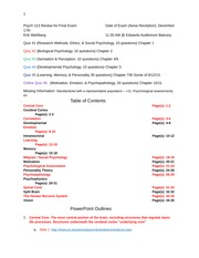 Psych 113 Final Review Study Guide