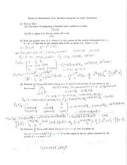 Worksheet 15 Solutions