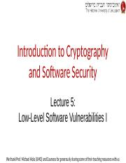 Lecture 5 -- Low-Level Software Vulnerabilities I.pptx