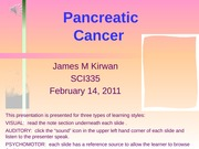 Example Presentation_Pancreatic_Cancer
