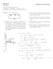 PHYSICS 21 Fall 2014 Midterm 2 Solutions