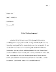 Critical Thinking Assignment 3
