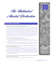 CHAPTER 10 THE UNLIMITED MARITAL DEDUCTION