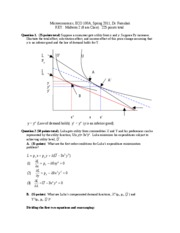 Econ100A Midterm 2 Solutions