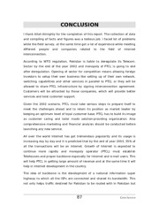 ESTABLISHMENT OF TELEHOUSING FACILITIES IN PAKISTAN MS THESIS CONCLUSION.doc