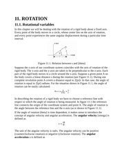 Rotation, Rotational Variables, Constant Angular Acceleration, Relation Between Linear and Angular V