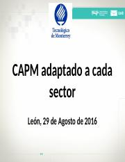 CAPM Adapted