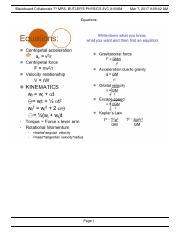 Physics equations 3-7