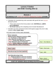 ACCT 226 online lecture #3 filled out (Prof Fergusson) - Job Order Costing Part 2