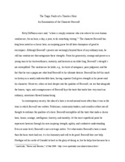 Beowulf Essay - The Tragic Faults of a Timeless Hero An ...