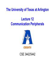 Lecture-12-Communication Peripherals