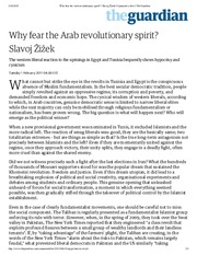 Why fear the Arab revolutionary spirit_ _ Slavoj Žižek _ Comment is free _ The Guardian