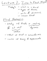 Lecture 02 Notes Intro to Fluids