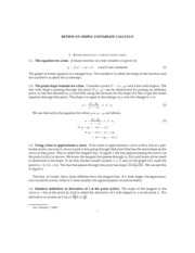 REVIEW OF SIMPLE UNIVARIATE CALCULUS