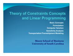 5.4 TOC concepts and Linear Programming