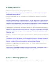 Module 5 Review and Critical Thinking Questions