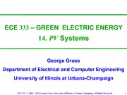 Lecture 14 - PV Systems