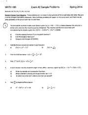 MATH 180 Sample Test 2