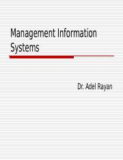 Management Information Systems1
