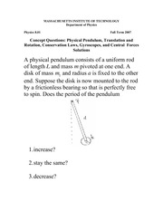 Practice Clicker Questions For MIT Exam 3 With Solutions