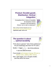 Durable Goods Notes