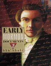 Early Mormon Documents, volume - Dan Vogel