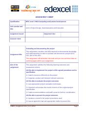 Project Design, Implementation and Evaluation_Assignment Brief 3.doc