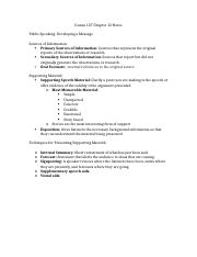Comm 107 Chapter 12 Notes.docx