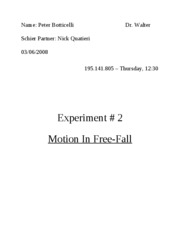 Lab2 - Motion In Free-Fall