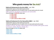 22 Government and the Arts