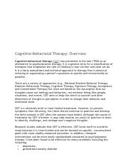 CBT Overview  Therapy  Role Plays .pdf