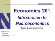 Lecture 201 - Taxes and Microeconomics