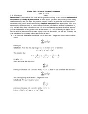 Exam 4 Version 2 Solutions