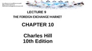 MGMT389_Summer2015_Lectures_Foreign_Exchange_Markets_and_the_Risk_of_Foreign_Exchange_Fluctuation