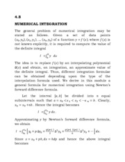 Numerical Analysis:Numerical Integration