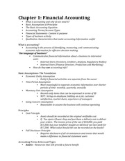 ALL of Financial Accounting Notes (Ch. 1-10)