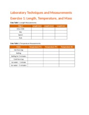 lab techniques and measurements Proficiency with general laboratory and measurement techniques, knowledge of  physical sensors and data reduction techniques application to simple physical.