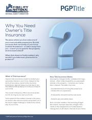 Why You Need Owner%27s Title Insurance