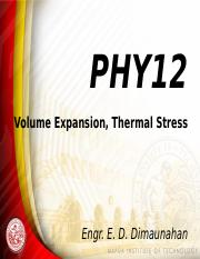 03 Volume Expansion, Thermal Stress.pptx