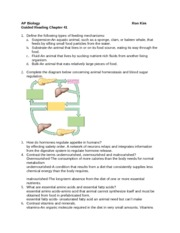 summary on chapter 34 ap biology reading guide chapter 34 rh coursehero com Study Guides Biology Junction Modern Biology