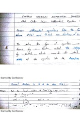 Further Ordinary Differential Equations Class Notes 13