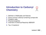 2009 2 Introduction to Carbonyls