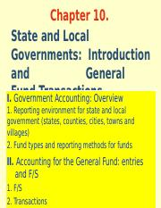 Ch 10. State and Local Gov_Intro and General Fund Transactions