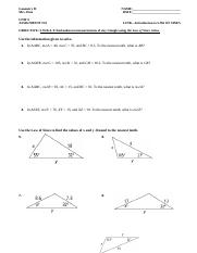 8.5 - Name 8-5 Class Date Practice Form G Law of Sines Use ...