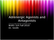 9-7 Adrenergic Agonists and Antagonists