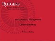 Introduction to Management Course Summary