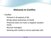 Welcome to Conflict