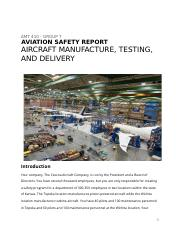 AMT 410 - AVIATION SAFETY REPORT