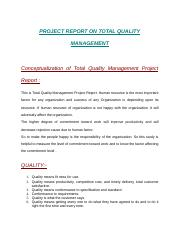 PROJECT REPORT ON TOTAL QUALITY MANAGEMENT.docx