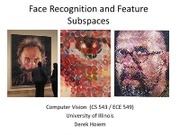 Lecture 20 - Face Recognition - Vision_Spring2012